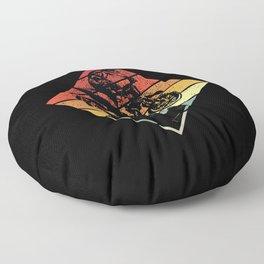 Retro Motorcorss Dirt Bike Jump Gift Idea Floor Pillow