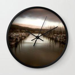 Unbalanced Half Moon Bay California Wall Clock
