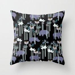 Rhino Jungle Throw Pillow