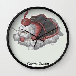 Carpet Bumm Wall Clock