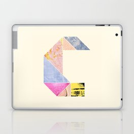 Collaged Tangram Alphabet - C Laptop & iPad Skin