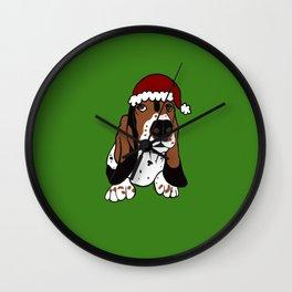 A Basset Full of Christmas Wall Clock