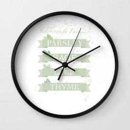 Scarborough fair Wall Clock