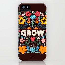 GROW floral iPhone Case