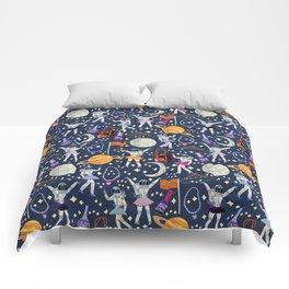 Dancing Across Galaxies Comforters