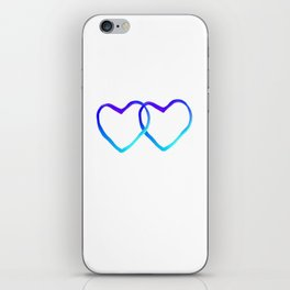 Blue Heart iPhone Skin