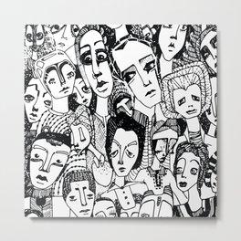 the crowd Metal Print