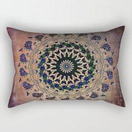In the Air Mandala - Birds and Butterflies Rectangular Pillow