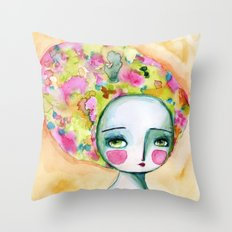 The Muse Of Summer Throw Pillow