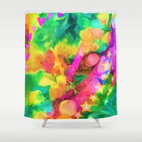 camouflage Shower Curtains featuring Camouflage by Geni