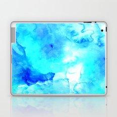 Modern blue sea hand painted watercolor Laptop & iPad Skin