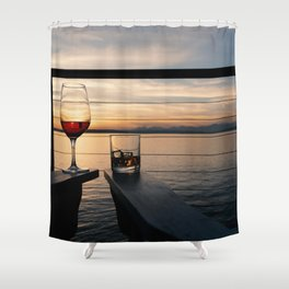 Wine and Whiskey Eve Shower Curtain