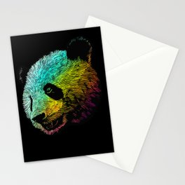 Cool Colored Panda Stationery Cards