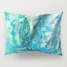 Dancing whales abstract Pillow Sham