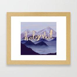 Holy sh!t Framed Art Print