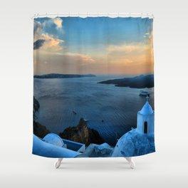 Santorini 10 Shower Curtain