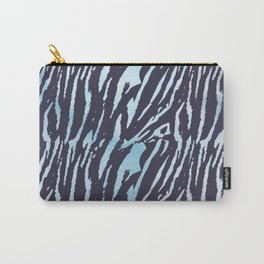 Tiger Blue Watercolor Gradient Carry-All Pouch