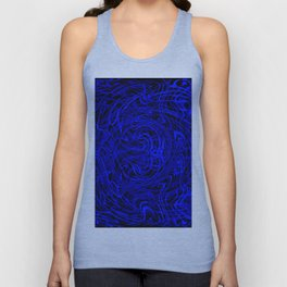 blue swirls Unisex Tank Top