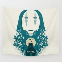 spirited away Wall Tapestries featuring Spirited by Duke Dastardly