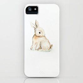 Easter bunny watercolor iPhone Case