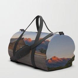Moulton Barn - Sunrise in Grand Tetons Duffle Bag