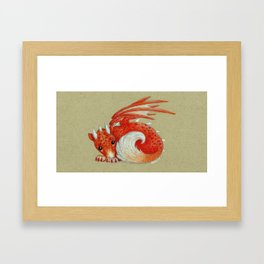 Baby Red Dragon Framed Art Print