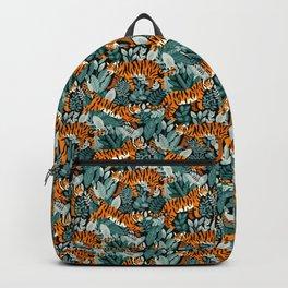 Bengal Tiger Teal Jungle Backpack