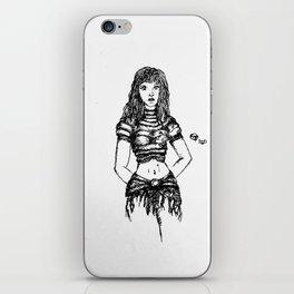 warrior woman iPhone Skin