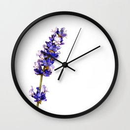 Mediterranean Lavender on White Wall Clock