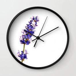 Mediterranean Lavender on White Wall Clock
