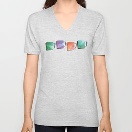 Coffee Mugs - Rainbow Colors Unisex V-Neck