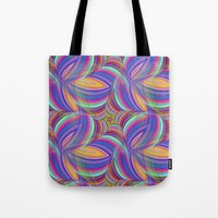 psychedelic Tote Bags featuring Psychedelic by David Zydd