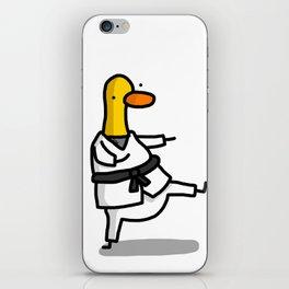 Karate Duck   Veronica Nagorny iPhone Skin