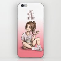 laia iPhone & iPod Skins featuring Eat Sleep Blog Repeat by Laia™