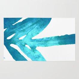 Ocean Blue Fern Rug