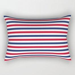 Navy Stripes Rectangular Pillow