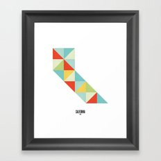 Geometric California Framed Art Print
