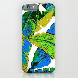 BANANA PALM LEAF PARADISE iPhone Case