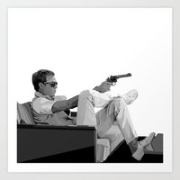 steve mcqueen Art Prints featuring Steve McQueen Vector by Erik Nilsson