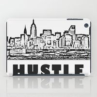 hustle iPad Cases featuring HUSTLE by BACK to THE ROOTS
