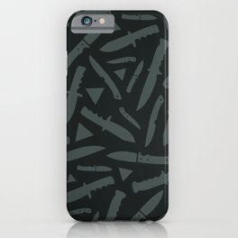 Survival Knives Pattern - Midnight Forest iPhone Case