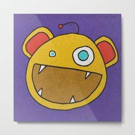 Slightly Amused Monsters, III Yellow Metal Print