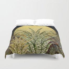 """""""Golden aloe Zebra midnight sun"""" Duvet Cover"""