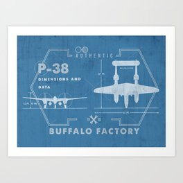 BUFFALO FACTORY P-38 Art Print