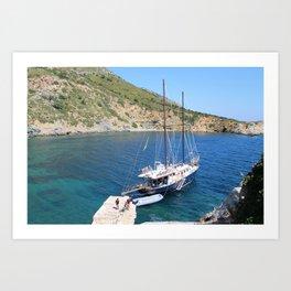 Caicco @Greece Art Print