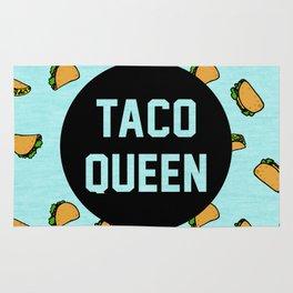 Taco Queen - blue Rug