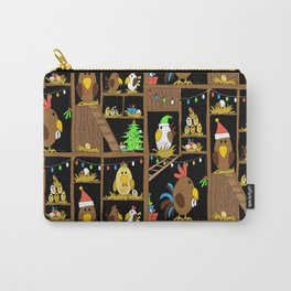 Chicken Coop Christmas - funny chickens, farm, holidays Carry-All Pouch