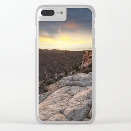Canyonlands Sunset Clear iPhone Case