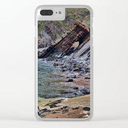 Hartland Quay Cliff Face Devon Clear iPhone Case