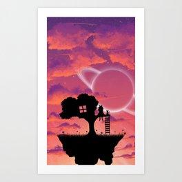 Space Tree House Island Art Print